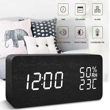 FiBisonic LED desk clock