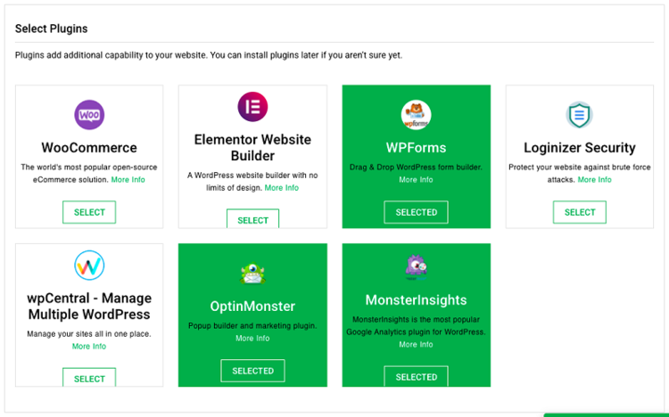 select-plugins