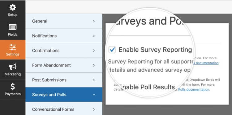Enable-survey-reporting
